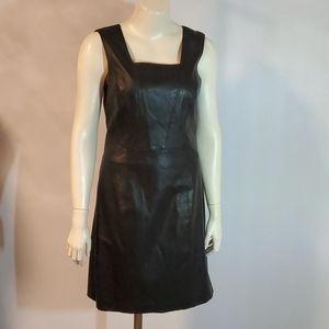 Armani Exchange faux leather black dress